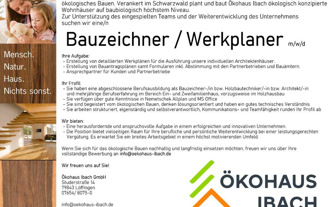 Wir stellen ein: Bauzeichner / Werkplaner m/w/d